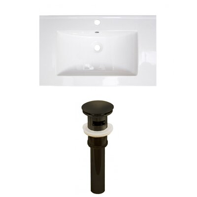 Roxy 32 Single Bathroom Vanity Top Faucet Mount: Single, Drain Color: Black