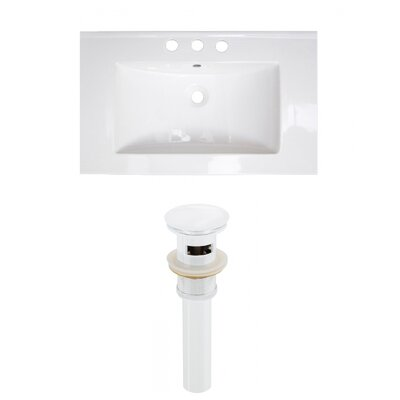 Roxy 32 Single Bathroom Vanity Top Faucet Mount: 8 Centers, Drain Color: White
