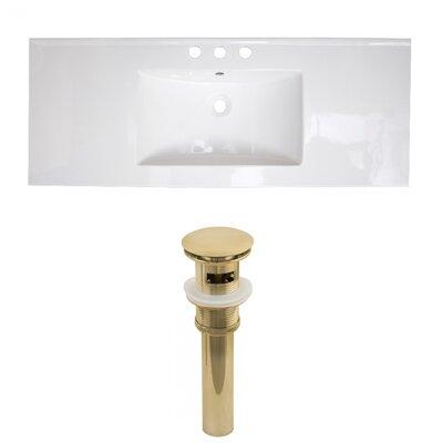 3 Hole Ceramic 48 Single Bathroom Vanity Top