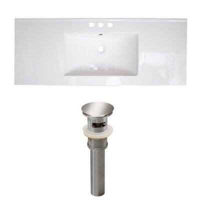 Ceramic 48 Single Bathroom Vanity Top