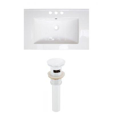 3 Hole Ceramic 24 Single Bathroom Vanity Top