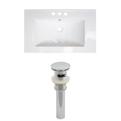 Roxy 32 Single Bathroom Vanity Top Faucet Mount: 4 Centers, Drain Color: Chrome