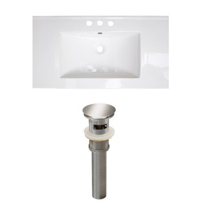 Ceramic 32 Single Bathroom Vanity Top Faucet Mount: 4 Centers
