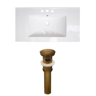 Roxy 32 Single Bathroom Vanity Top Faucet Mount: 4 Centers, Drain Color: Antique Brass