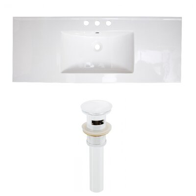 Ceramic 40 Single Bathroom Vanity Top Faucet Mount: 8 Centers