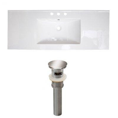 Ceramic 40 Single Bathroom Vanity Top Faucet Mount: 8 Centers