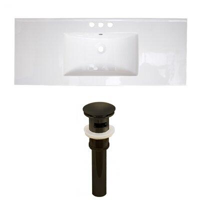 Ceramic 40 Single Bathroom Vanity Top Faucet Mount: 4 Centers
