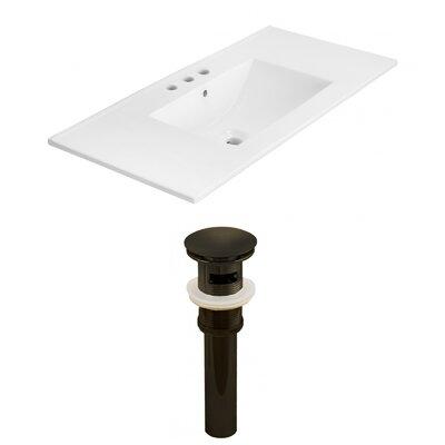 Drake 36 Single Bathroom Vanity Top Faucet Mount: 4 Centers, Drain Color: Black