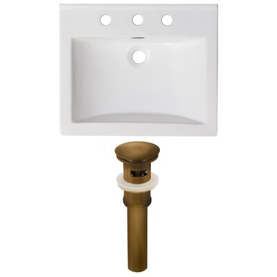 3 Hole Ceramic 21 Single Bathroom Vanity Top