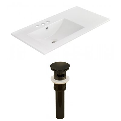 Drake 36 Single Bathroom Vanity Top Faucet Mount: 4 Centers, Drain Color: Oil Rubbed Bronze