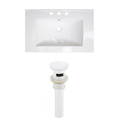 Ceramic 25 Single Bathroom Vanity Top Faucet Mount: 8 Centers