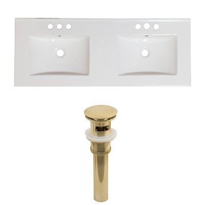 Ceramic 59 Double Bathroom Vanity Top
