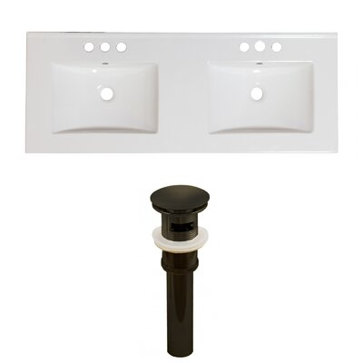 Ceramic 59 Double Bathroom Vanity Top