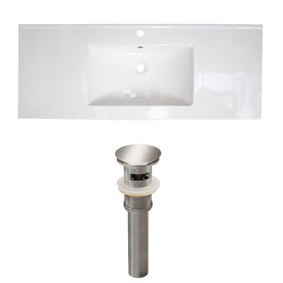 Ceramic 49 Single Bathroom Vanity Top Faucet Mount: Single