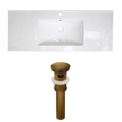 Ceramic 49 Single Bathroom Vanity Top Faucet Mount: Single