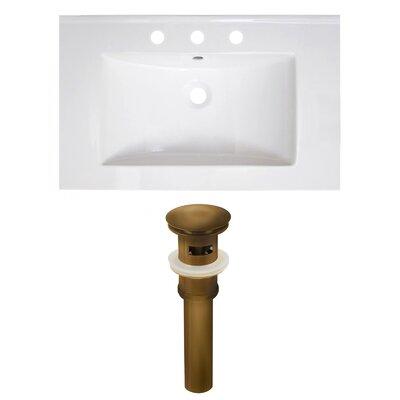 Ceramic 30 Single Bathroom Vanity Top Faucet Mount: 8 Centers