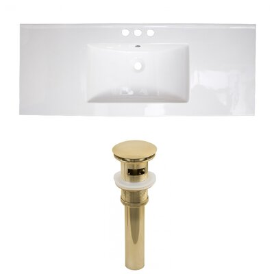 Ceramic 49 Single Bathroom Vanity Top Faucet Mount: 8 Centers