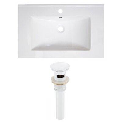 Ceramic 30 Single Bathroom Vanity Top Faucet Mount: Single