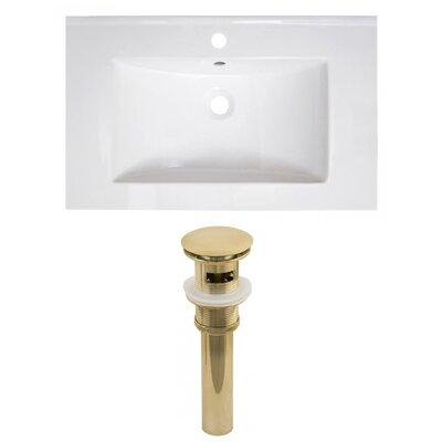 Ceramic 30 Single Bathroom Vanity Top Faucet Mount: Single
