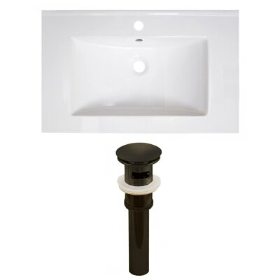 30 Single Bathroom Vanity Top Faucet Mount: Single, Drain Color: Oil Rubbed Bronze