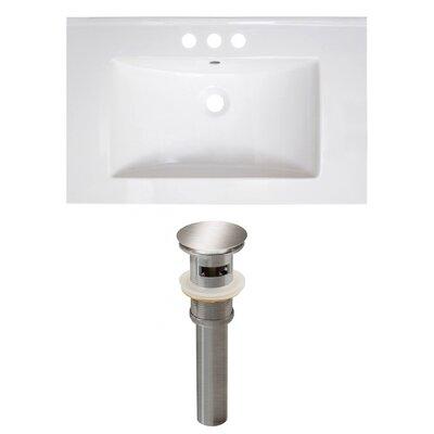 Ceramic 30 Single Bathroom Vanity Top Faucet Mount: 4 Centers