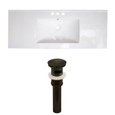 Ceramic 49 Single Bathroom Vanity Top Faucet Mount: 4 Centers
