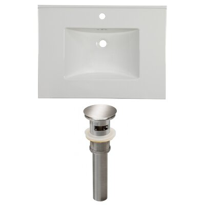 31 Single Bathroom Vanity Top Faucet Mount: Single, Overflow Cap Color: Chrome