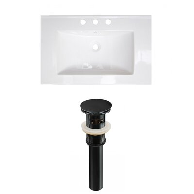 Ceramic 24 Single Bathroom Vanity Top Faucet Mount: 4 Centers