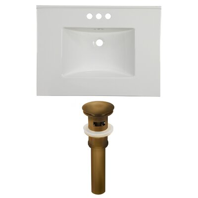 Ceramic 31 Single Bathroom Vanity Top Faucet Mount: 4 Centers