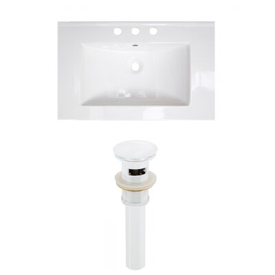Ceramic 24 Single Bathroom Vanity Top Faucet Mount: 4 Centers