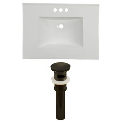 Ceramic 31 Single Bathroom Vanity Top Faucet Mount: 4 Centers