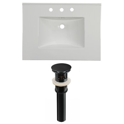 Ceramic 31 Single Bathroom Vanity Top Faucet Mount: 8 Centers