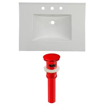 Ceramic 31 Single Bathroom Vanity Top Faucet Mount: 8 Centers