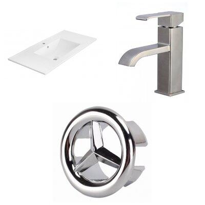 1 Hole Ceramic 36 Single Bathroom Vanity Top