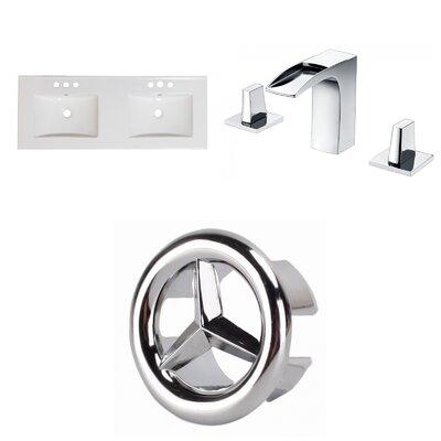 3 Hole Ceramic 59 Double Bathroom Vanity Top