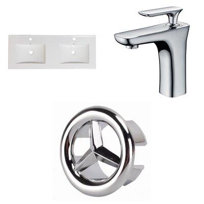 Xena Ceramic 48 Double Bathroom Vanity Top