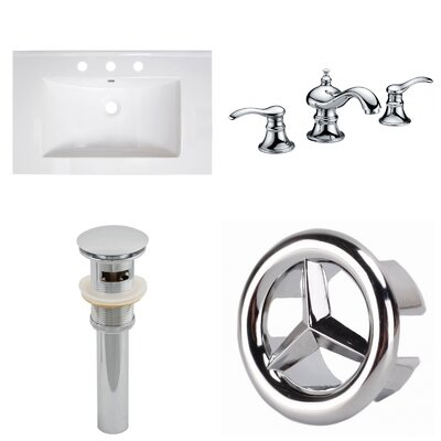 30 Single Bathroom Vanity Top and Overflow Drain