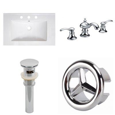 3 Hole Ceramic 30 Single Bathroom Vanity Top