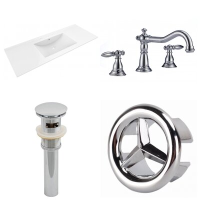 Roxy Ceramic 48 Single Bathroom Vanity Top and Faucet