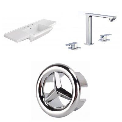 3 Hole Ceramic 40 Single Bathroom Vanity Top