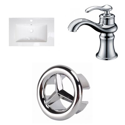 1 Hole Ceramic 25 Single Bathroom Vanity Top