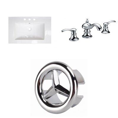 3 Hole Ceramic 25 Single Bathroom Vanity Top