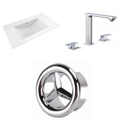 Drake 36 Single Bathroom Vanity Top Top Finish: White