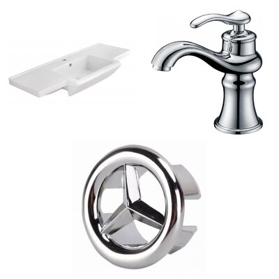 1 Hole Ceramic 40 Single Bathroom Vanity Top