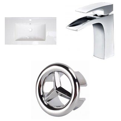 1 Hole Ceramic 37 Single Bathroom Vanity Top