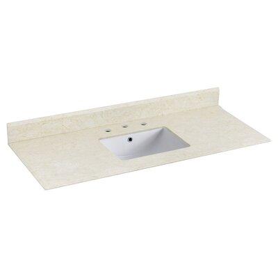 Juliet Marble 48 Single Bathroom Vanity Top Top Finish: White
