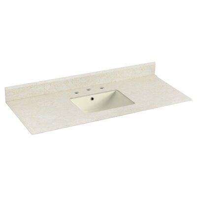 Juliet Marble 48 Single Bathroom Vanity Top Top Finish: Biscuit