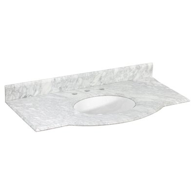 Juliet Marble 44 Single Bathroom Vanity Top Top Finish: White