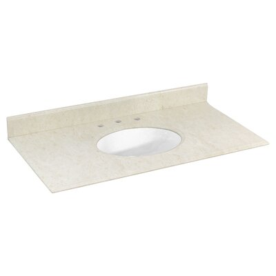 Juliet Marble 44 Single Bathroom Vanity Top Top Finish: White