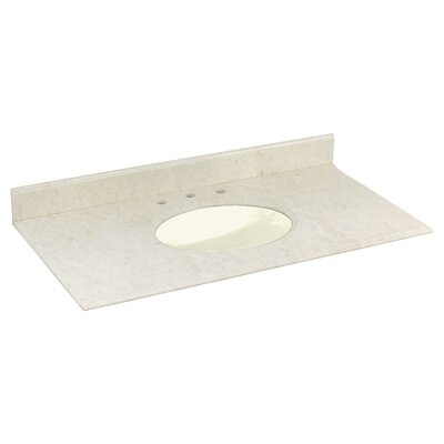 Juliet Marble 44 Single Bathroom Vanity Top Top Finish: Biscuit